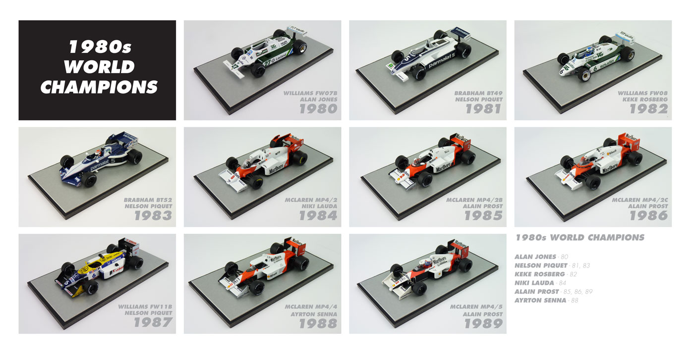 F1-World-Champions-1980s-Diecast-Models