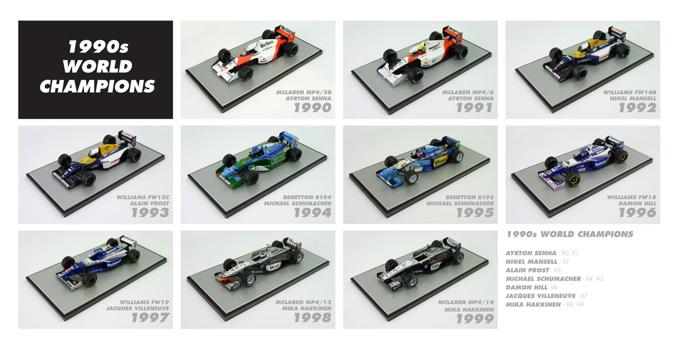 F1 World Champions 1990s Diecast Models