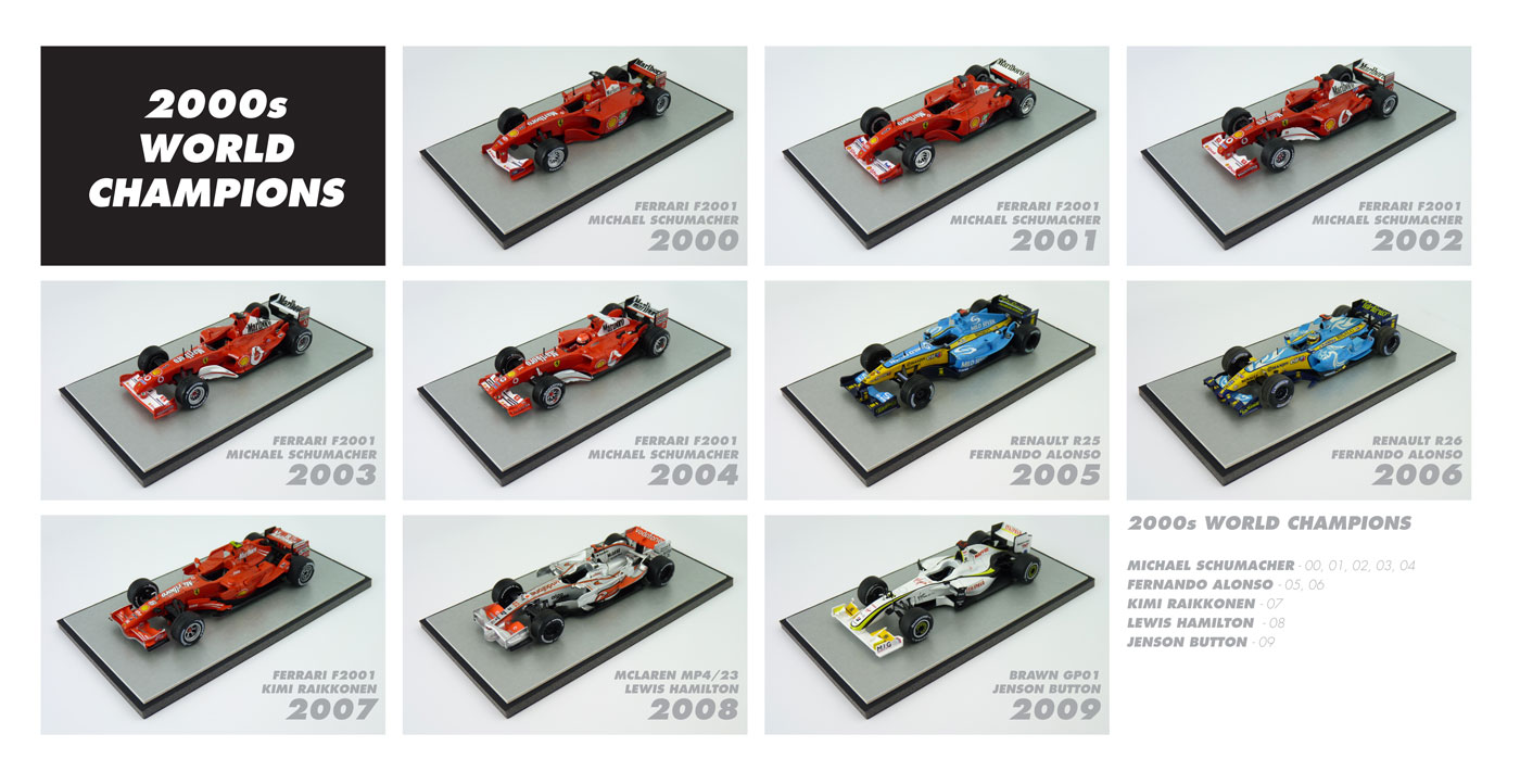 F1 World Champions 2000s Diecast Models
