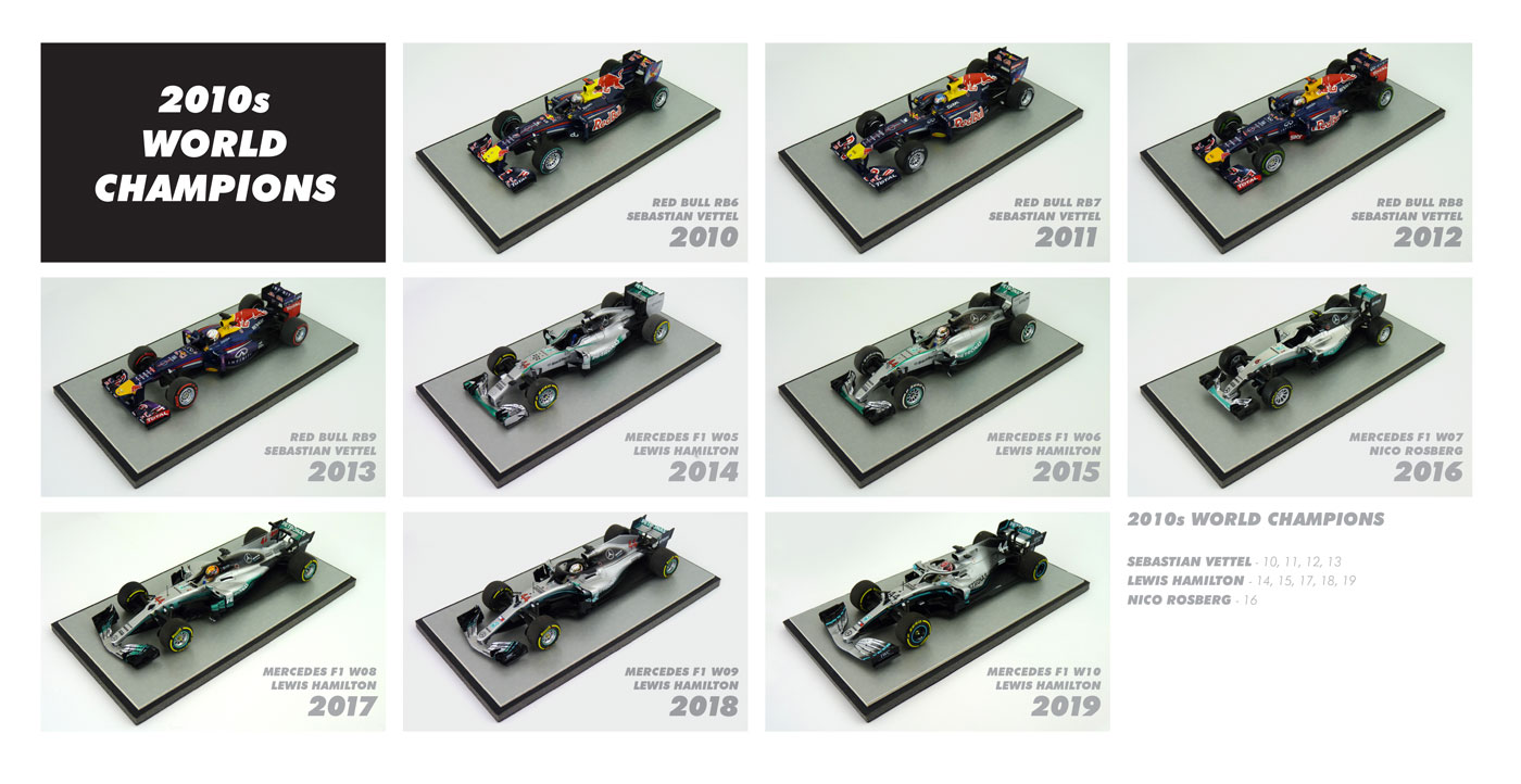 F1 World Champions 2010s Diecast Models