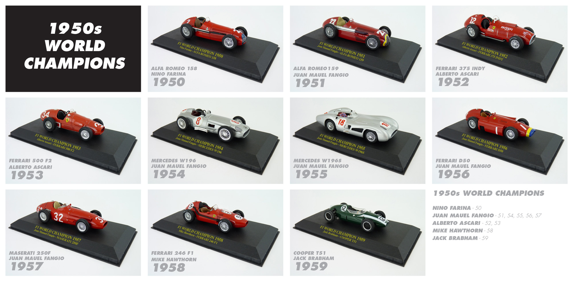 1950s F1 World Champions Diecast Collection