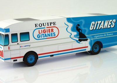 Ligier Gitanes 1976 F1 Team Transporter Paper Model