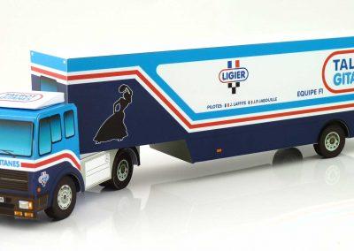 Talbot Gitanes 1981 F1 Team Transporter Paper Model