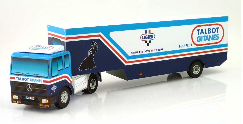 Talbot Gitanes 1982 F1 Team Transporter Paper Model