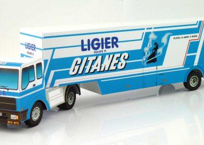 Ligier Gitanes 1983 F1 Team Transporter Paper Model