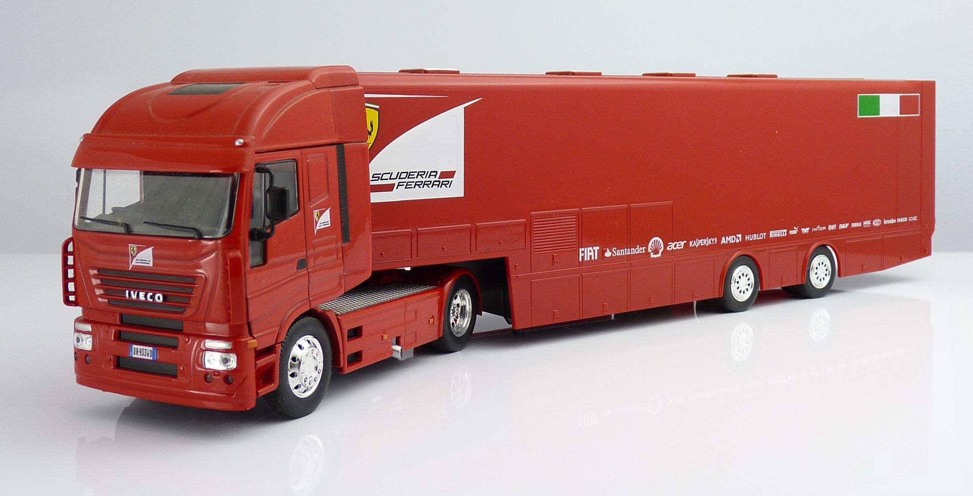 F1 Car Collection Ferrari Transporter Truck
