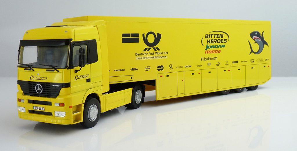 F1 Car Collection Jordan Transporter Truck