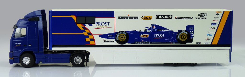 F1 Car Collection Prost Grand Prix Transporter Truck